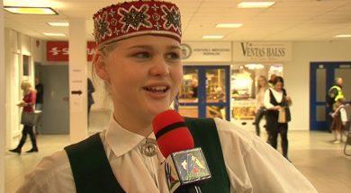 Детский праздник песни и танца в Вентспилсе.